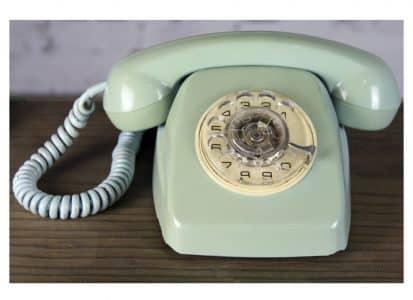 Teléfono vintage verde galicia