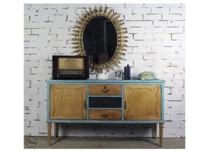 Antiguo aparador con espejo sol vintage