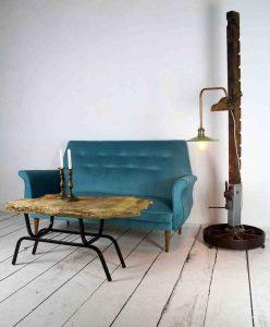 Sofá vintage azul