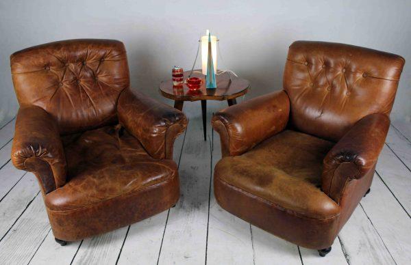 pareja de sillones de cuero